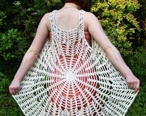 Mandala Spider Web Vest / Dress yarn and color your choice Gift Boxed