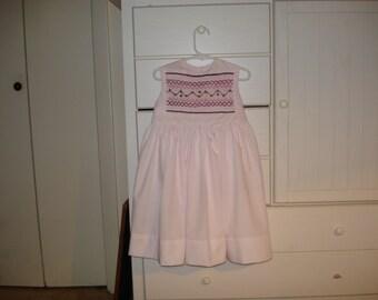 Hand smocked girls dress Pink Size 3