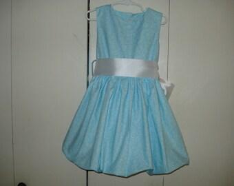 Aqua  Girls Bubble Dress Size 4