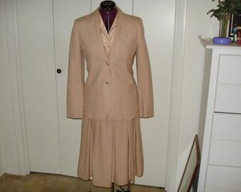 Vintage 3 piece suit and blouse circa 1976 - 1978
