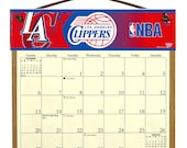 2016 CALENDAR - Los Angeles Clippers Wooden  Calendar Holder filled with a 2016 calendar & a refill order form page for 2017.