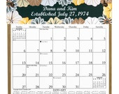 2016 CALENDAR - Personalized Flowers Wooden Calendar Holder filled with a 2016 calendar & an order form for 2017 - Free Shipping to USA