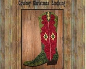 Cowboy Boot Christmas Stocking Pattern, 2008 PDF version