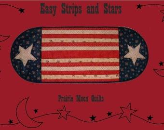 Easy Strips and Stars Reversible Table Runner Pattern