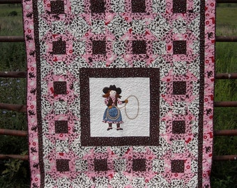 Lil Cowpokes Cowgirl Cowboy Quilt Pattern