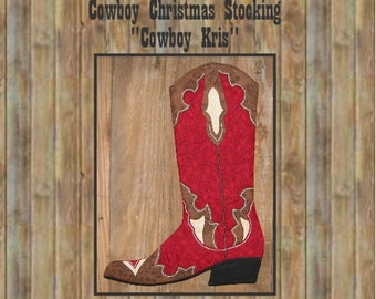 Cowboy Boot Christmas Stocking Pattern, 2011 PDF version