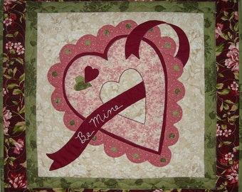 Be Mine Valentine Wall Quilt PDF Pattern