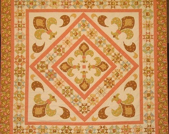 Springtime in Paris Medallion Queen-sized Quilt Pattern