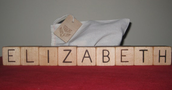 Personalized Blocks 9 letters