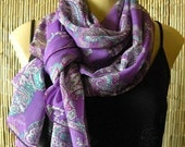 Back  in the shop ...Classy paisley...Sophisticated Purple....Parisian Neck Tissu......Beautiful....