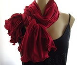 Reserved for cicisbowboutique.....Dark Red going into Burgundy...Neck Rag with matching Trimming....Globetrotter..