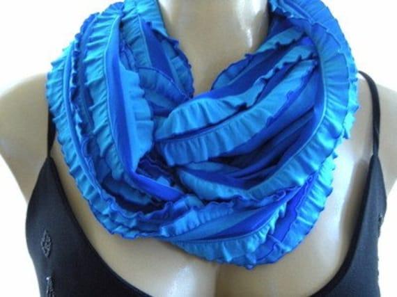 Last One Greek Islands Blue....Flamenco..Necklace Scarf...Le dernier cri...