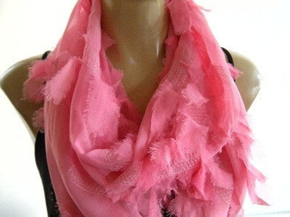 Sugar Pink.....Meet me at South Beach....Necklace Scarf.... Chiffon..Longer Tube Version....More colors are coming.