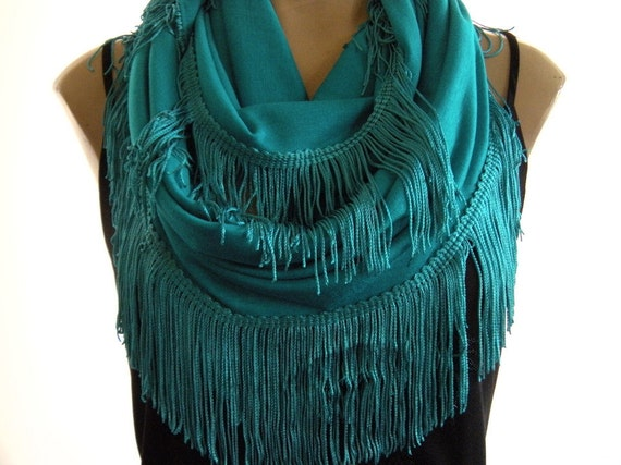 Playful fringes...Caribbean Turquoise....Mediterranean trend...Limited