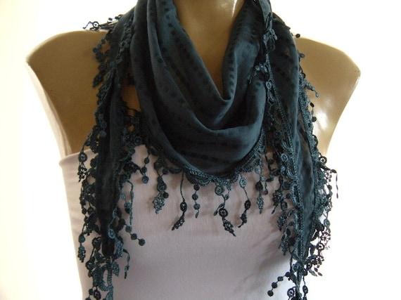 Teal Blue..Cotton blend....Richly Fringed...Mediterranean fever.... Summer collection