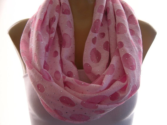 Orchid pink... Spring Nomad Cowl.....Infinity Scarf..Relaxed version