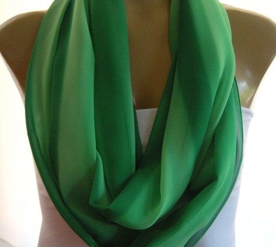 Last one..Bright -Bright  Fern Green...Tone on tone striped.....Necklace Scarf......Chiffon.......Euro Chic...