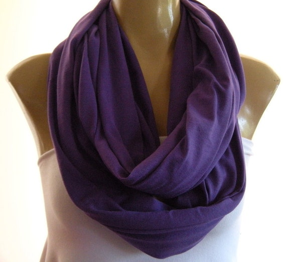 Last One..Pretty Purple...All  Cotton.. Nomad Cowl.....Infinity Scarf..Relaxed version..Super soft.
