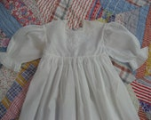 Vintage Handmade Christening Dress