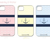 Preppy Monogrammed Anchor Iphone Cover