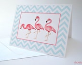 Flamingo & Chevron Notecard Set