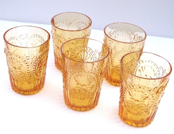 Fleur De Lis Juice Glasses