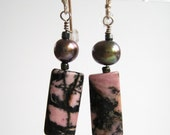 pink jasper earrings