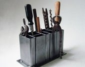 Industrial Steel Desk Organizer