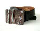 Copper and Enamel Belt Buckle: Cell Structure
