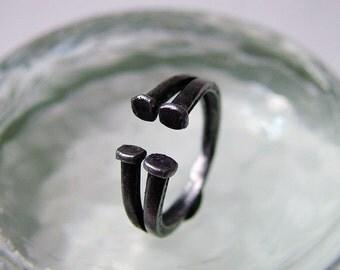 Split Square Nail Ring