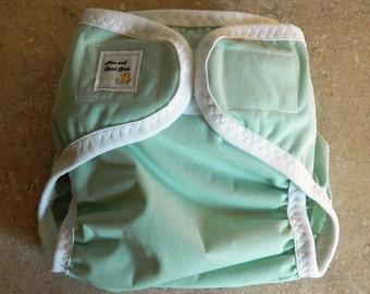 Medium PUL Diaper Cover- 10 to 20 pounds- Seafoam- SALE