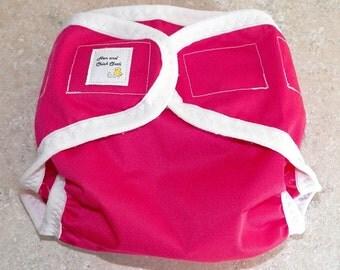 Medium PUL Diaper Cover- 10 to 20 pounds- Magenta