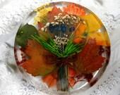Autumn Harvest Pressed Flower Suncatcher-Rustic Colors of the Season
