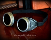 Antiqued silver, Rusted, pewter, black Steampunk welding goggles