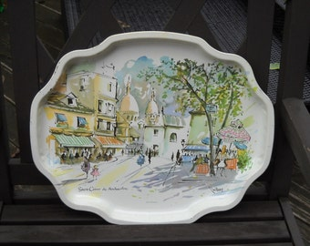 Vintage - Lovely French inspired metal tray