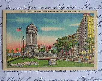 vintage Soldiers and Sailors Monument -  New York City postcard
