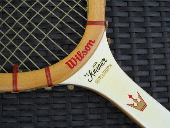 Vintage - The Jack Kramer Autograph- Wilson Tennis Racket