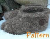 Wild Woolie Felted Slipper PATTERN