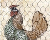 Charming Vintage Chicken Tags Printable Digital Download