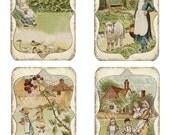 Vintage Farm Illustrations Collage Sheet Digital Download