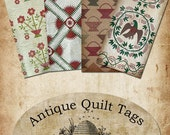 Antique Quilt Tags Printable Digital Download