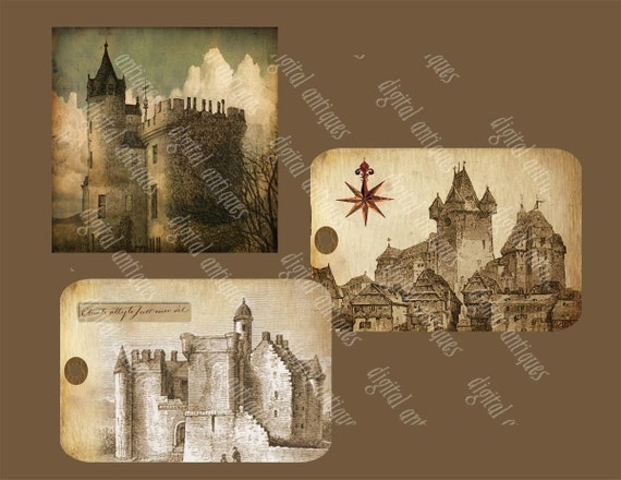 Dreams of Fairytale Castles Tags Digital Download