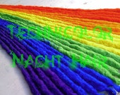 24 Long Rainbow Crocheted Natural Dreads