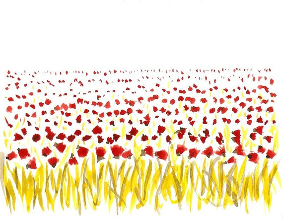 POPPY SEED FLOWER FIELDS - Limited edition to 100 prints