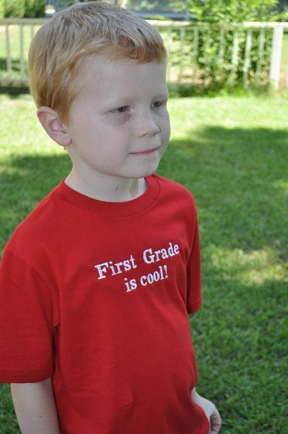 Back to school. kindergarten is cool- 1st, 2nd, 3rd, 4th, 5th, grade- shirt, pre school, boy or girl