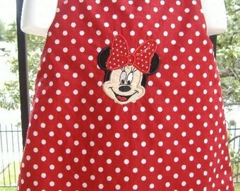 Custom Boutique Monogrammed Minnie Mouse A Line dress