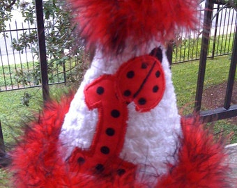 Custom Boutique Ladybug Birthday Party hat