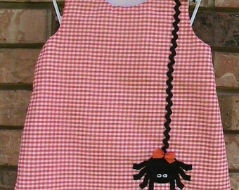 Halloween Spider Monogrammed Dress