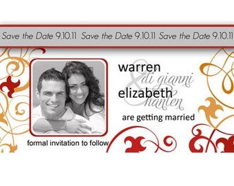 Customized Save the Date Magnets Personalized Party Magnets