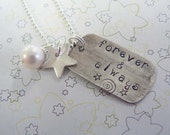 Star rectangle pendant / Personalized necklace